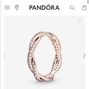 New PANDORA twister ring